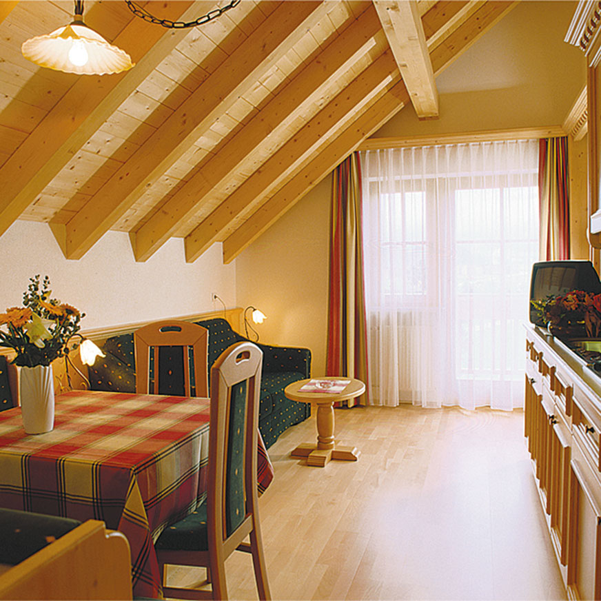 Living room in Anterselva in South Tyrol