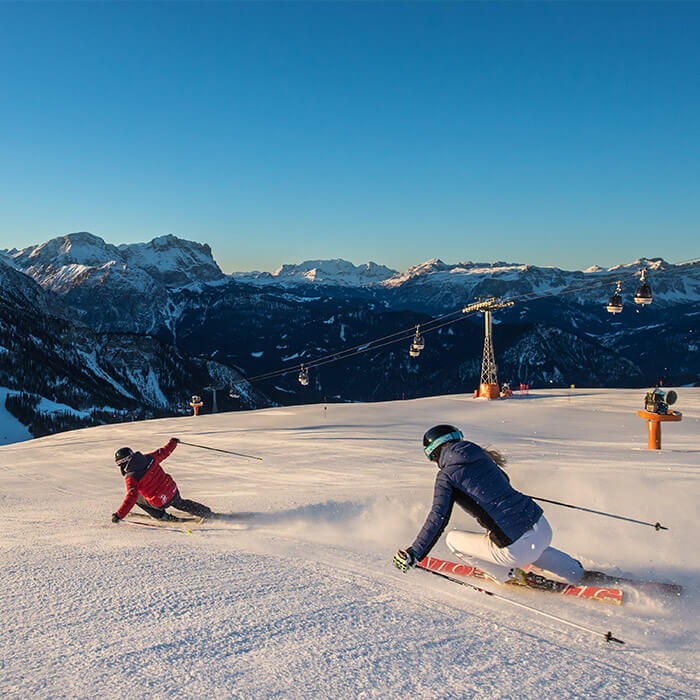 Skiing on Kronplatz